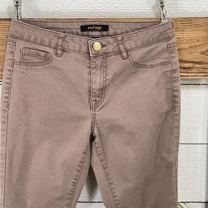 Refuge Brown Stretch Cropped Jeans Pre Loved SZ 4